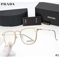 PRADA street fashion men and women models simple versatile box flat mirror #1