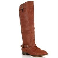 SALE-Rust Knee High Riding Boots