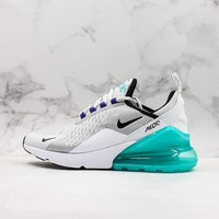 Nike Air Max 270 Grey White Black Green Running Shoes - Best Deal Online