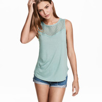 H&M Sleeveless Top with Lace $9.99