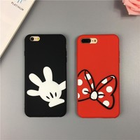 Cute cartoon mouse soft silicone phone case For IPhone 6 6S 6plus 6s plus 7 7plus 8 8plus