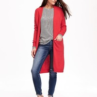 Relaxed Open-Front Long Sweater for Women   Old Navy