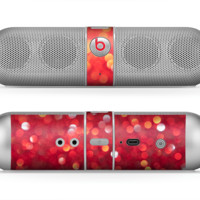 The Unfocused Red Showers Skin for the Beats by Dre Pill Bluetooth Speaker