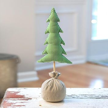 Green Striped Stuffed Tree