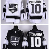 Los Angeles Kings 10 Mike Richards Ice Hockey Jerseys LA Kings Team Color Black Alternate White All Stitched Top Quality On Sale