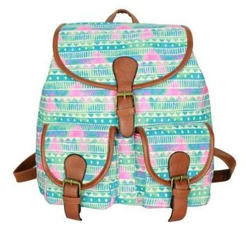 CREYON Day First Cute Sweet Tribal Travelling Bag College School Bag Canvas Backpack Daypack