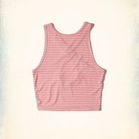 Girls Ribbed High-Neck Crop Top | Girls New Arrivals | HollisterCo.com