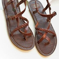 Roman Style Leisure Retro Strap Thong Sandal from styleonline