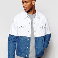 ASOS | ASOS Denim Jacket with Cut and Sew detail with Frayed Edge at ASOS