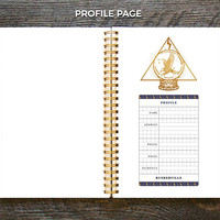 Medium Weekly Planner (180-Pages) | 12 Months | Blue Divination Planner