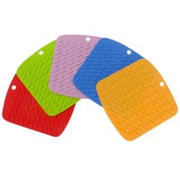 Evelots Best Premium Flexible Silicone Pot Holders, Durable,Non-Slip Pads,5 Pack