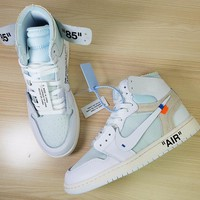 "Off White x Nike AIR Jordan 1 ""White"" Men Basketball Shoes AQ0818-100"