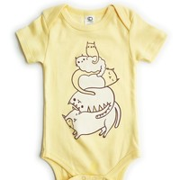 Stack the Cats! Baby Outfit - Cat Organic Baby Clothing by boygirlparty