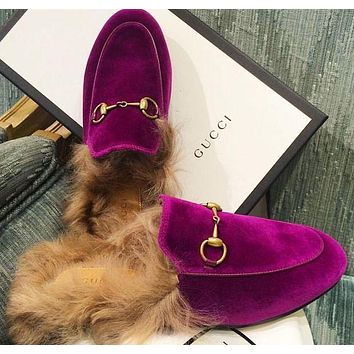 Gucci The latest plush slippers