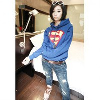 Relaxed Thicken Long Sleeve Fleece Hoodie For Women