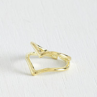 Festival The V to Success Knuckle Ring by ModCloth