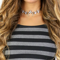 Mythical Black and Silver Choker