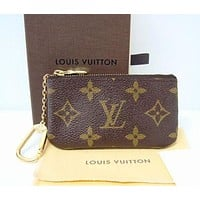 LV Louis Vuitton Fashion Plaid Print Small Bag Change purse key bag F LV Printed