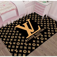 LV Louis Vuitton carpet living room coffee table blanket Nordic style bedroom bedside blanket