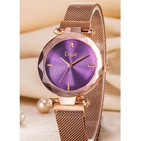 Rolex Tide brand new women's simple minimalist quartz watch Purple