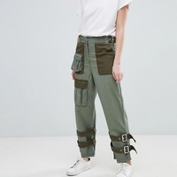 ASOS DESIGN zip detail combat pants at asos.com
