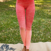 Relaxing Ombre Yoga Leggings Coral