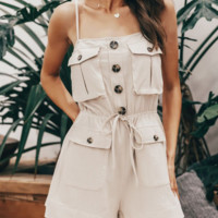 Spring and summer cotton jumpsuit holiday style sexy strap short jumpsuit hot sale