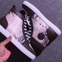 Cl Christian Louboutin Python Style #2275 Sneakers Fashion Shoes
