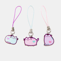 Pastel Pusheen phone charm