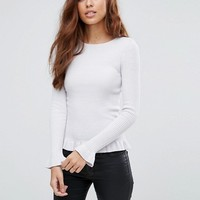 Miss Selfridge Frill Hem Sweater at asos.com