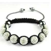 Amazon.com: Zicac Shamballa Crystal Bead Bracelet Jewelry Adornment With 9 Iced Out Disco Ball Beads Covered And 4 Highly Polished Hematite Beads Made With Over 80 Crystals Of One Ball Beads Unisex For Men And Women: Arts, Crafts & Sewing