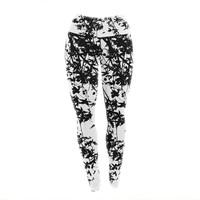 "Ingrid Beddoes ""Black on White"" Yoga Leggings"