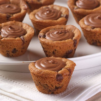 Chocolate Chip Cookie Cups  or  Peanut Butter Filled with Rich Chocolate