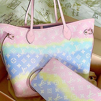 LV Louis Vuitton Two-piece Gradient Printed Letter Shoulder Bag Messenger Bag Shopping Bag