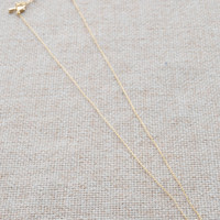 Tiny Anchor & Chain Necklace