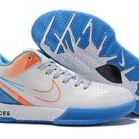 Nike Zoom Kobe 4 IV - White/Orange/Blue