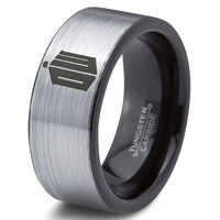 Doctor Who Ring Time Lord Design Ring Mens Fanatic Geek Sci Fi Science Fiction Boys Girl Womens Doctor Who Time Lord Fathers Day Gift Tungsten Carbide 125
