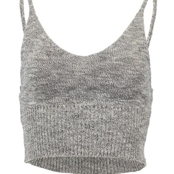 Knitted crop tank top