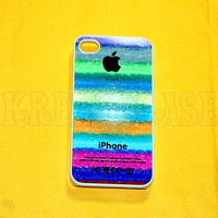 iphone 4 Case, iPhone 4s case Color Stripe with Apple Logo iPhone 4 Cases, Iphone 4s Cover,Case for iPhone 4