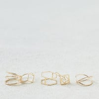 AEO Geo Shapes Rings 5-Pack, Gold