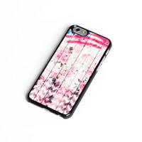 Women Fashion iPhone 6 Case Floral Flower Chevron and us flag