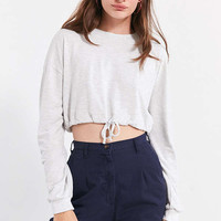 Silence + Noise Katie Drawstring Cropped Tee | Urban Outfitters