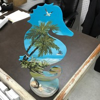 Wood Hand Painted Seahorse - Coastal Gifts & Decor