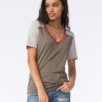 FULL TILT Essential Womens Varsity Tee | Knit Tops & Tees