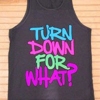 Men's Jersey Tank Top Turn Down For What