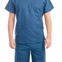 Caribbean Blue Medical Scrub Uniform Set