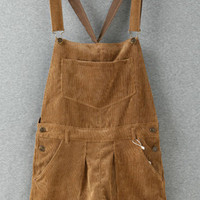 Brown Corduroy Jumpsuit