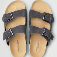 AEO Double Buckle Molded Footbed Sandal, Gray