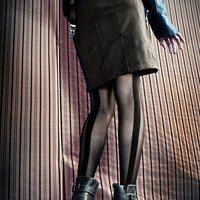 ENGLISH SUITED PENCIL SKIRT