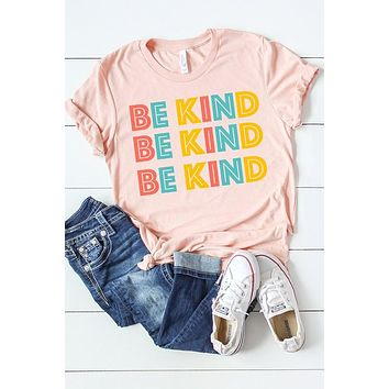 Be Kind Graphic Tee (Peach)